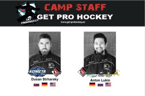 Goalie coach Strharsky + Lukin